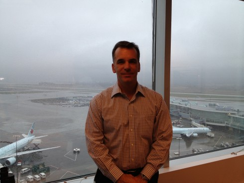 Brent Bell, manager of Vancouver International Airport's control tower.