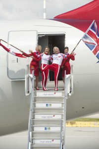 Sir Richard Branson's Virgin Atlantic touched down at YVR in May 2012.