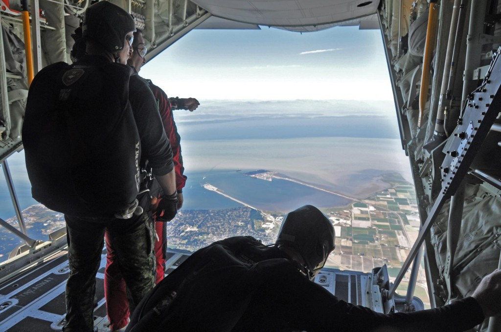 The Skyhawks Canadian Forces Parachute team. Photo: Jim Jorgenson