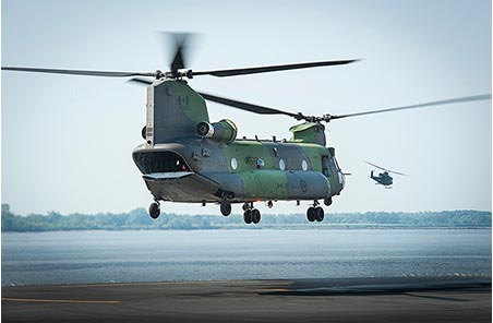 The Royal Canadian Air Force's new CH-147F Chinook helicopter.