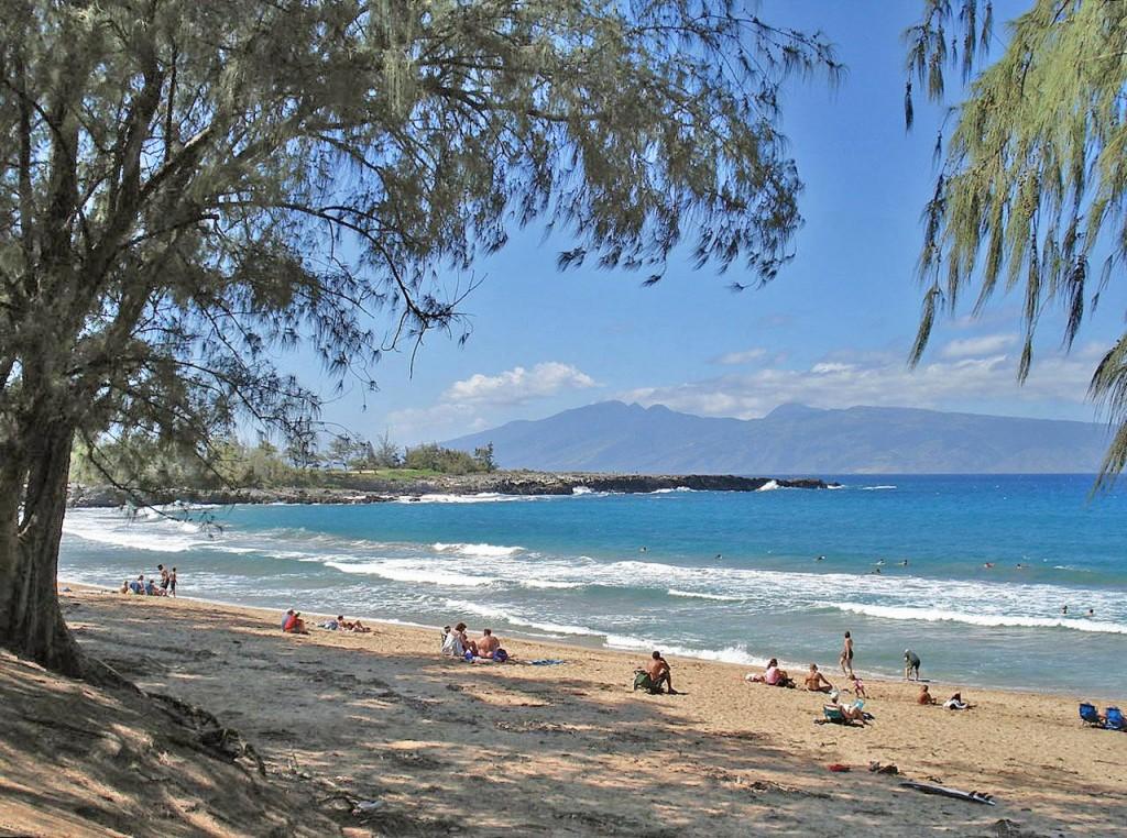 Fleming Beach near Kapalua, Maui--WestJet offers twice-daily service from Vancouver to both Maui and Honolulu.