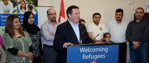 Citizenship, Immigration and Multiculturalism Minister Jason Kenney annunces Canada's commitment to resettle uyp to 1,300 Syrian refugees.