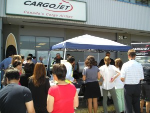 YVR employees, customers and staff attended the July Cargojet barbecue fundraiser to show their support for 21-month-old Nolan Byrne.