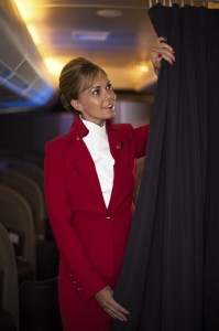 For the female cabin crew uniform the design process began by looking at cuts that included function as well as form.