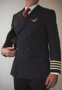 The male pilot's suits have been designed to mirror the male cabin crew, yet have a different edge and wider lapel shape.