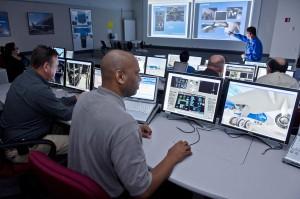 An advanced Boeing 787 maintenance training classroom. Photo: courtesy Boeing.