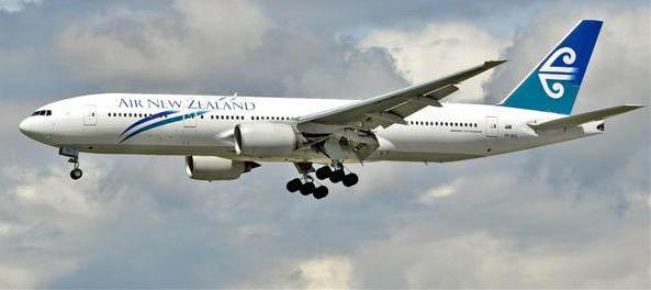 Air New Zealand Boeing 777 200 Extended Range. Photo: Jim Jorgenson