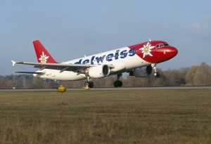 Edelweiss Airlines' globally distinctive mark is the famous alpine flower, which adorns the Swiss mountain peaks.