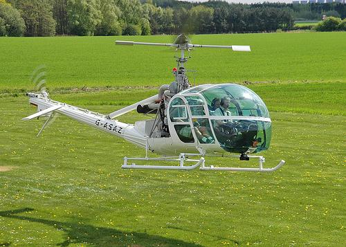 """Pussy Galore's helicopter from the movie """"Goldfinger"""" will be the 2014 """"Spirit of Aviation"""" star at Goodwood."""