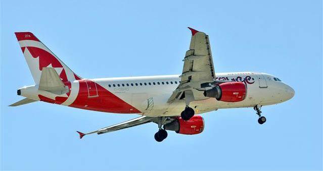 Air Canada rouge Airbus A319. Photo: Jim Jorgenson
