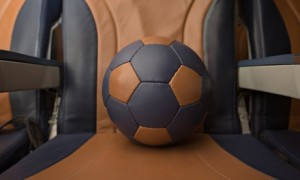 Southwest Airlines recycles 80,000 leather seats into soccer balls and shoes. Photo: courtesy Southwest Airlines