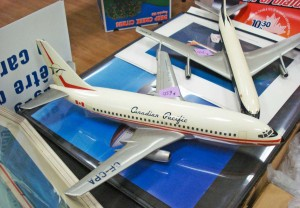 Collectibles such as this model of defunct airline Canadian Pacific will be seen at the October 18, 2014, Vancouver Aviation Show.