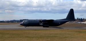 Mexican Air Force C-130K aircraft.