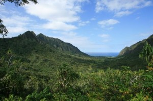 "Kualoa Ranch on the Hawaiian island of Oahu was the location for many of the scenes in the movie ""Jurassic World"". Photo: courtesy of Kualoa Ranch (PRNewsFoto/The Island of Oahu)"