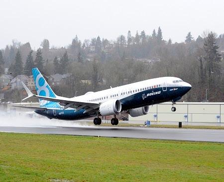 Boeing 737 MAX 8 test flight, January 29, 2016.
