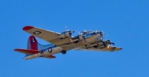 Boeing 17G bomber in full flight. Photo: Jim Jorgenson
