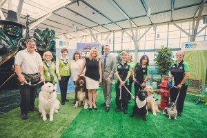 YVR's Ambassador Dogs will be easily identified by their YVR-branded leashes and St. John Ambulance bandanas that include their names.