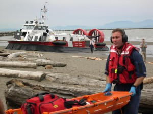 The Canadian Coast Guard operates a fleet of ships, hovercrafts and helicopters to protect the longest coastline of any country worldwide.