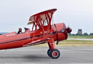Boundary Bay Airshow 2017: Boeing Stearman biplane piloted by Vicky Benzing. Photo: Jim Jorgenson