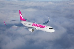 WestJet's new ultra low-cost airline, Swoop, will initially operate a fleet of six Boeing 737-800 aircraft in 2018, scaling up to 10 aircraft by spring 2019.