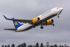 Icelandair's new 737 MAX aircraft departs Boeing's Seattle Delivery Center for its new home. Photo: Dean Jones, courtesy Boeing.