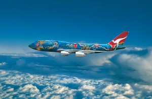 """Nalanji Dreaming"" appeared on a Qantas Boeing 747-30 from 1985 until the aircraft was retired in 2005."